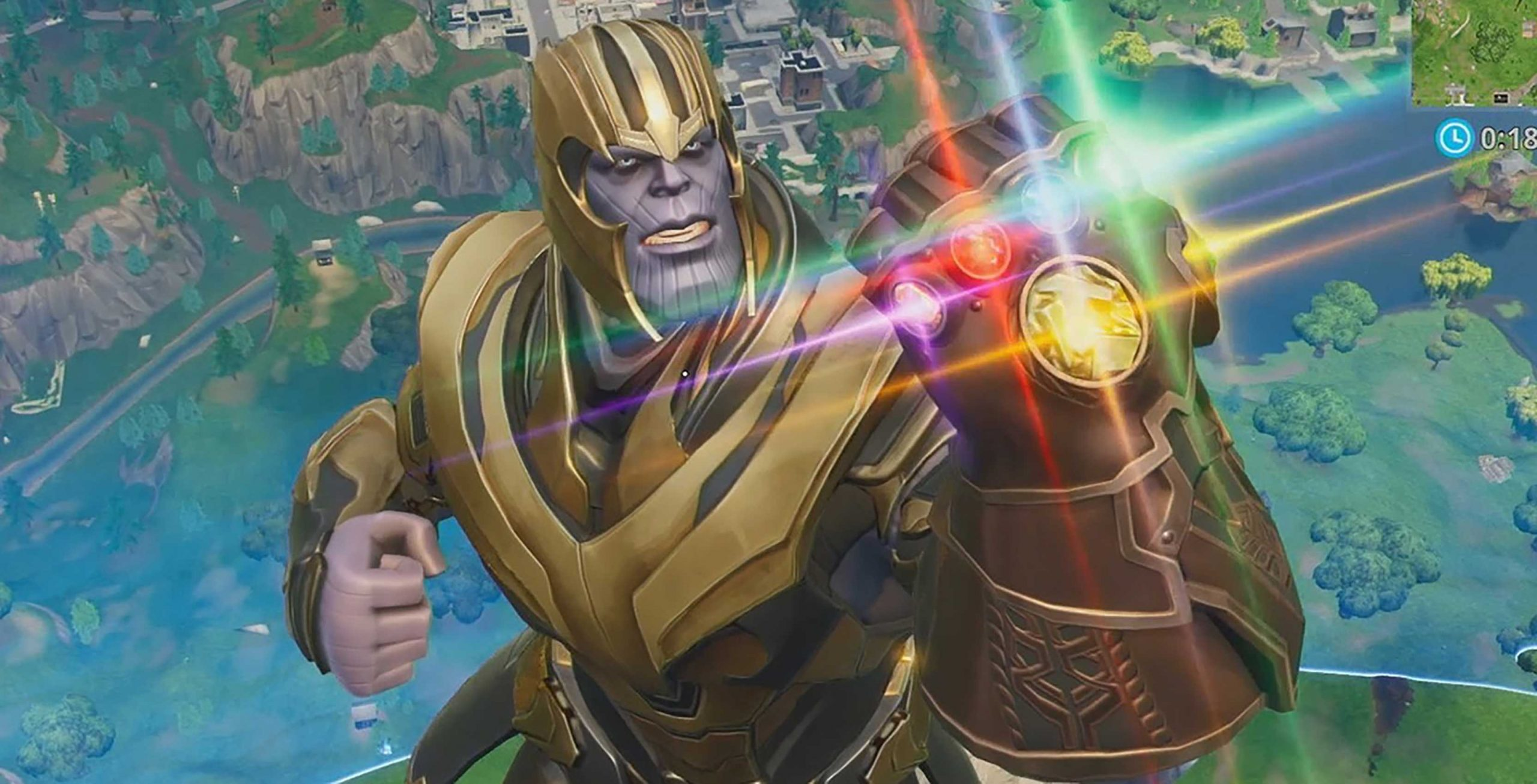 Thanos z rękawicą nieskończoności